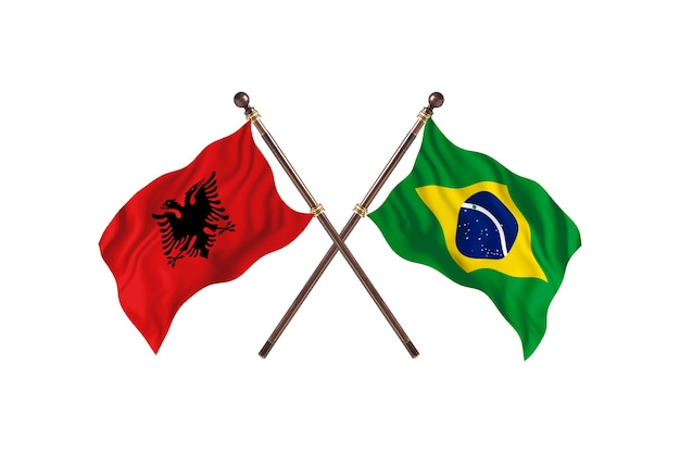 Albânia x brasil duas bandeiras