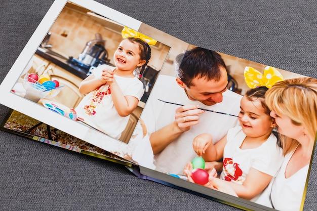 Álbum de fotos de família, fim de semana de páscoa
