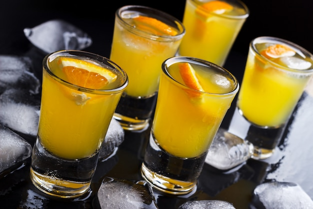 Álcool bebida vodka laranja