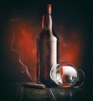 Álcool e charuto