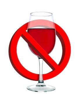Álcool é sinal de proibição