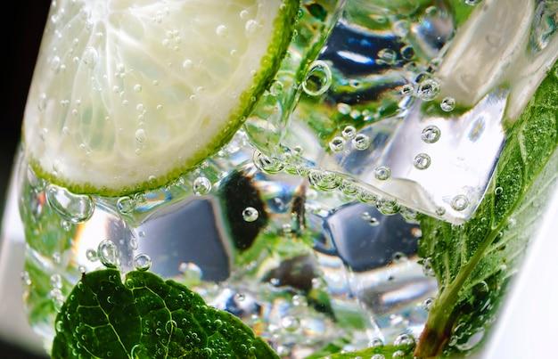 Álcool, verde, folha, hortelã, mojito, ninguém, agitador, mixologia, mojito, rum, açúcar, saboroso, tequila, vodka, uísque