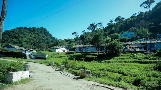 Aldeia abandonada em western ghats