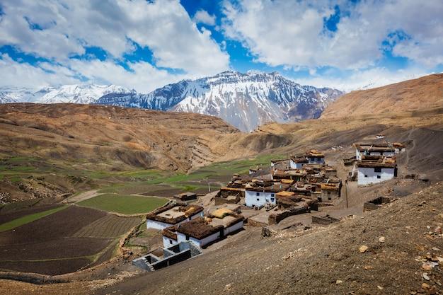 Aldeia cômica no himalaia