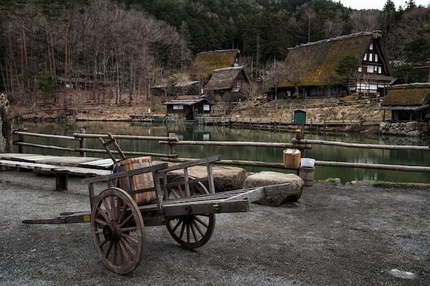 Aldeia folclórica de hida em takayama