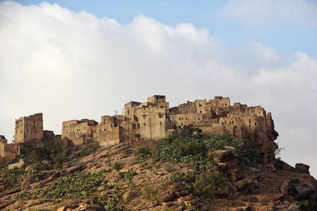 Aldeia tawila no iêmen