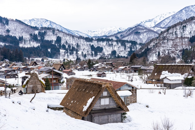 Aldeias históricas de shirakawa-go em gifu, japão