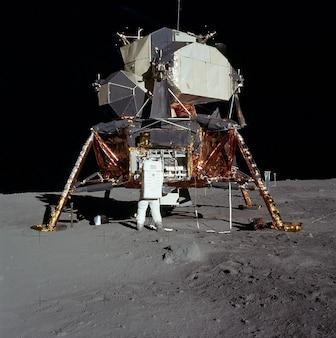 Aldrin apollo zumbido lunar pouso lander lua