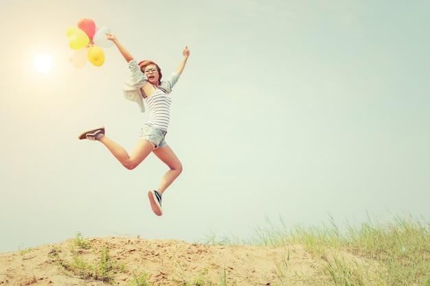 Alegre flexibilidade de estilo de vida divertido ensolarado