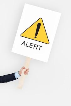 Alerta de atenção cuidado perigo crítico erro