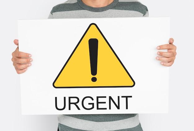 Alerta urgente atenção cuidado aviso de erro