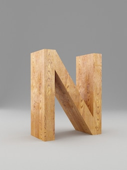 Alfabeto 3d de madeira decorativo, letra maiúscula