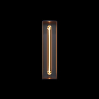 Alfabeto de luz néon eu
