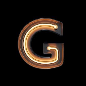 Alfabeto de luz néon g