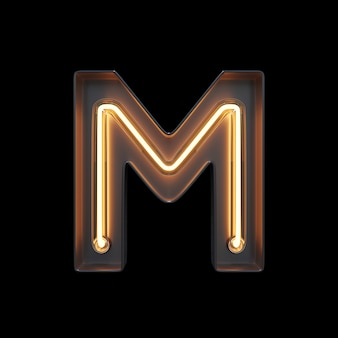 Alfabeto de luz néon m