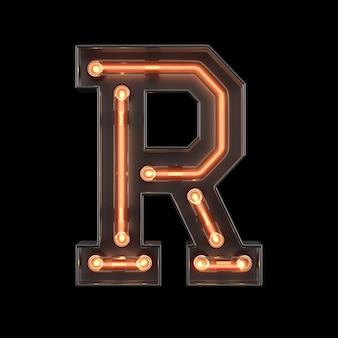 Alfabeto de luz néon r