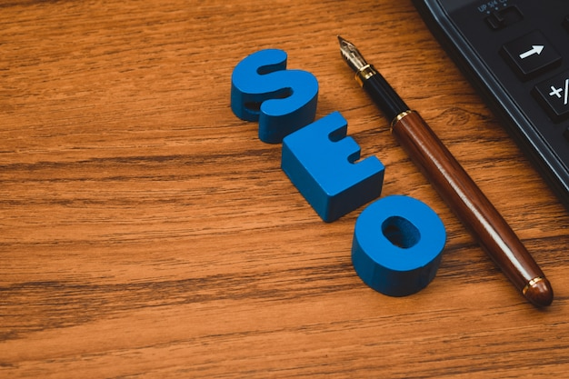 Alfabeto de texto seo para search engine optimization