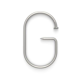 Alfabeto feito de unha