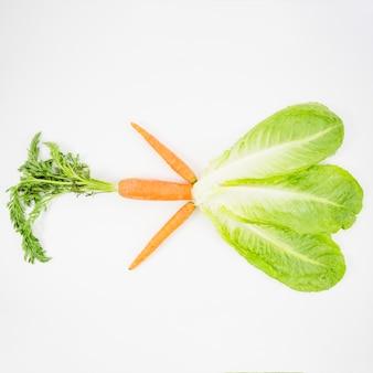Alface e cenoura