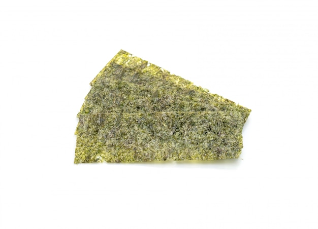 Alga seca em branco