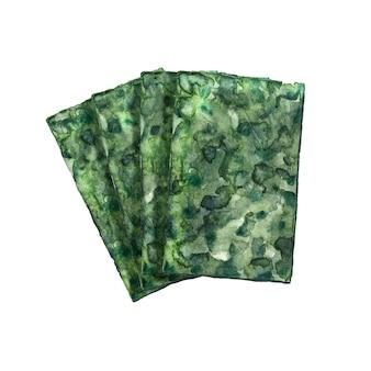 Algas secas em aquarela