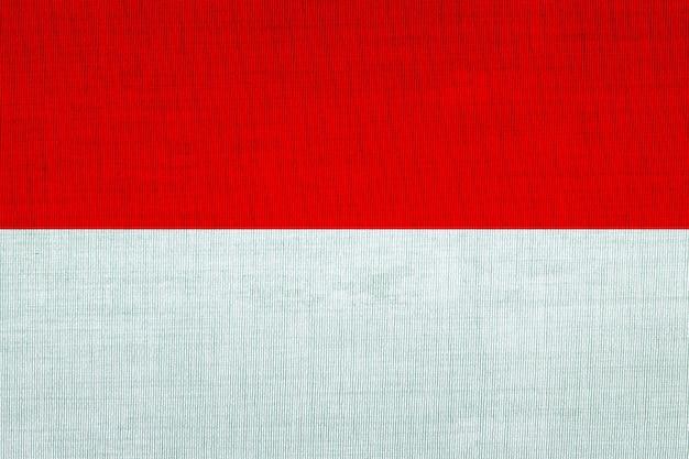 Algodão de bandeira nacional da indonésia