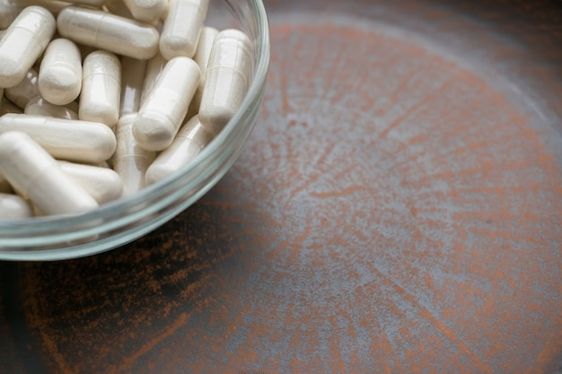 Alho em pó extrato em pó branco cápsulas comprimidos