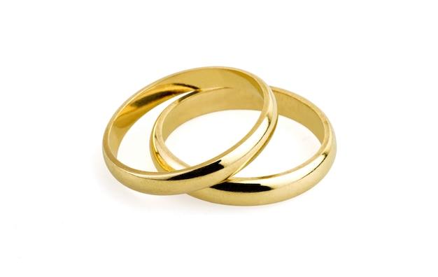 Alianças de casamento antigas (caminho de recorte)
