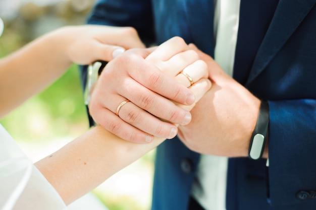 Alianças de casamento como um símbolo