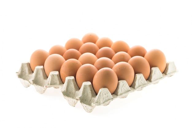 Aliment fundo casca de ovo marrom saudável