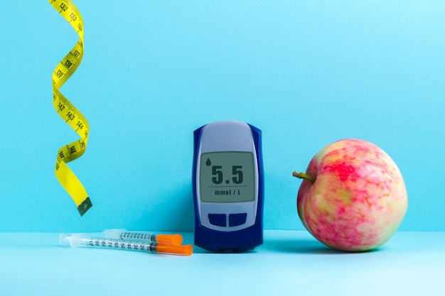 Alimentação saudável para tratamento e prevenção do diabetes.