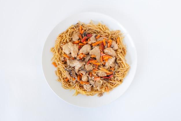 Alimento asiático pollo foodie gourmet
