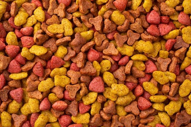 Alimento seco para gatos resumo background