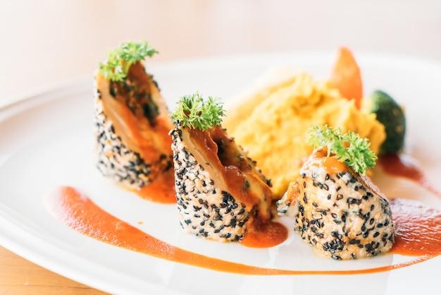 Alimentos placa prato restaurante gourmet