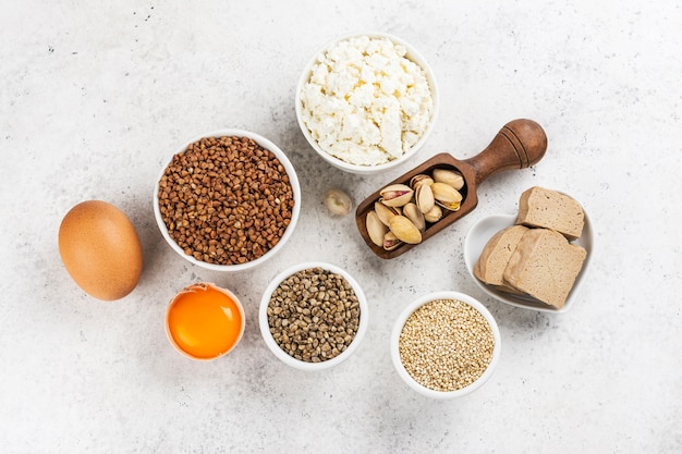 Alimentos ricos em aminoácidos. produtos contendo aminoácidos naturais