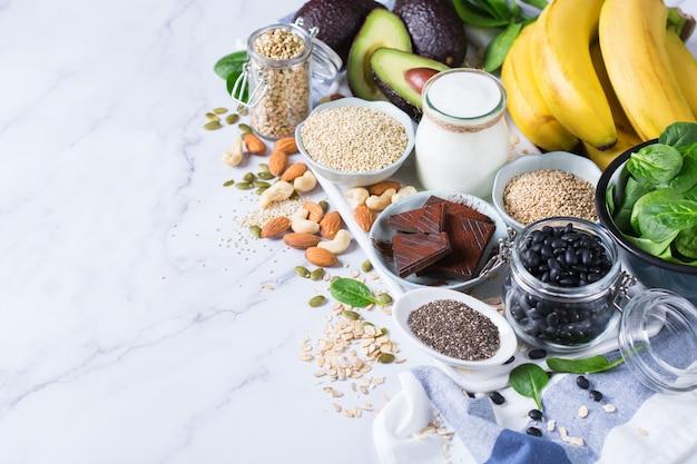Alimentos ricos em magnésio, alimentação e dieta saudáveis