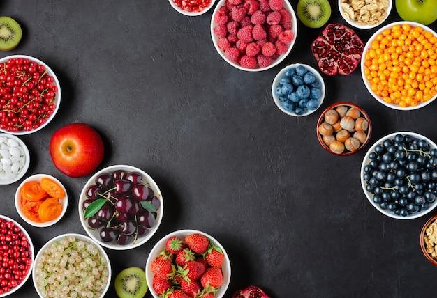 Alimentos saudáveis com alto teor de vitaminas e antioxidantes
