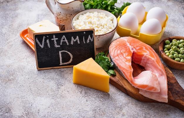 Alimentos saudáveis contendo vitamina d