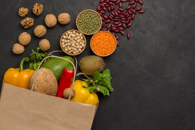 Alimentos saudáveis para dieta e estilo de vida.