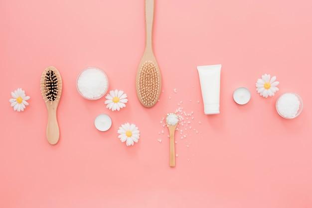 Alinhado spa essencial com flores de camomila