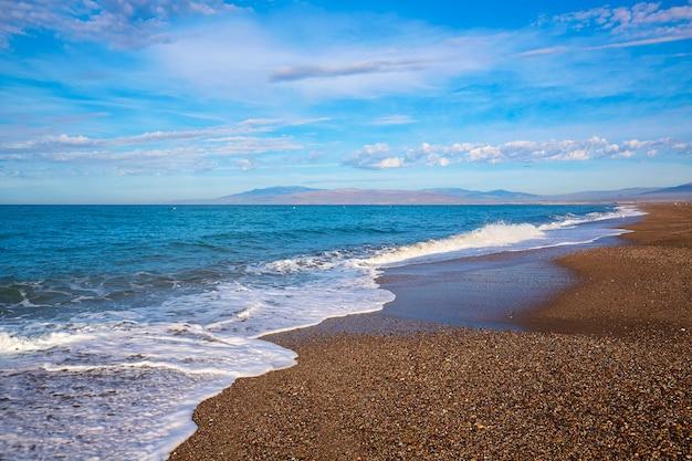Almeria cabo de gata san miguel praia espanha