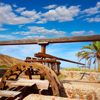 Almeria na roda d'água de cabo de gata rodalquilar