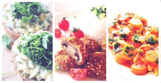 Almoço saudável vegan