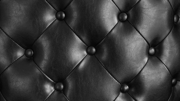 Almofada de couro preto textura