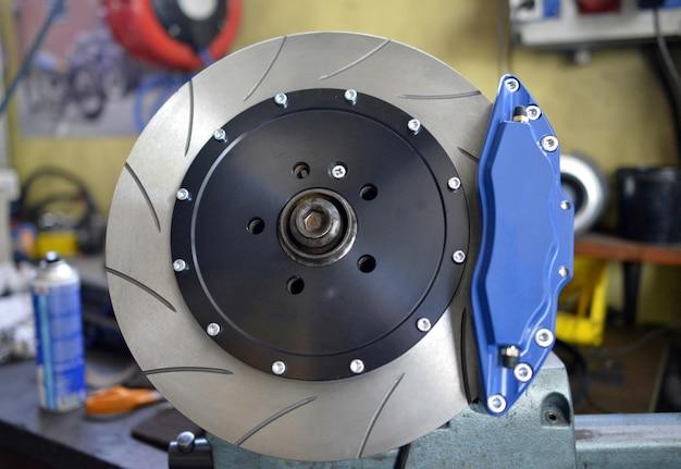Almofadas de freio de disco e azul