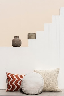 Almofadas estampadas design de interiores mediterrâneo