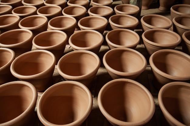 Almofariz de argila para culinária tailandesa