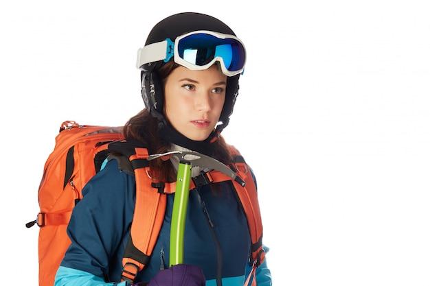 Alpinista de mulher