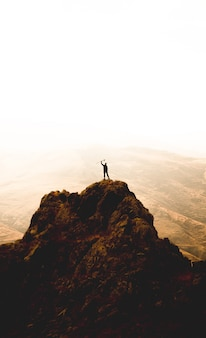 Alpinista no topo
