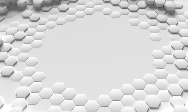 Alta vista 3d do favo de mel cópia espaço branco fundo